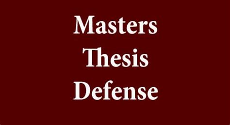 Defend thesis in front of